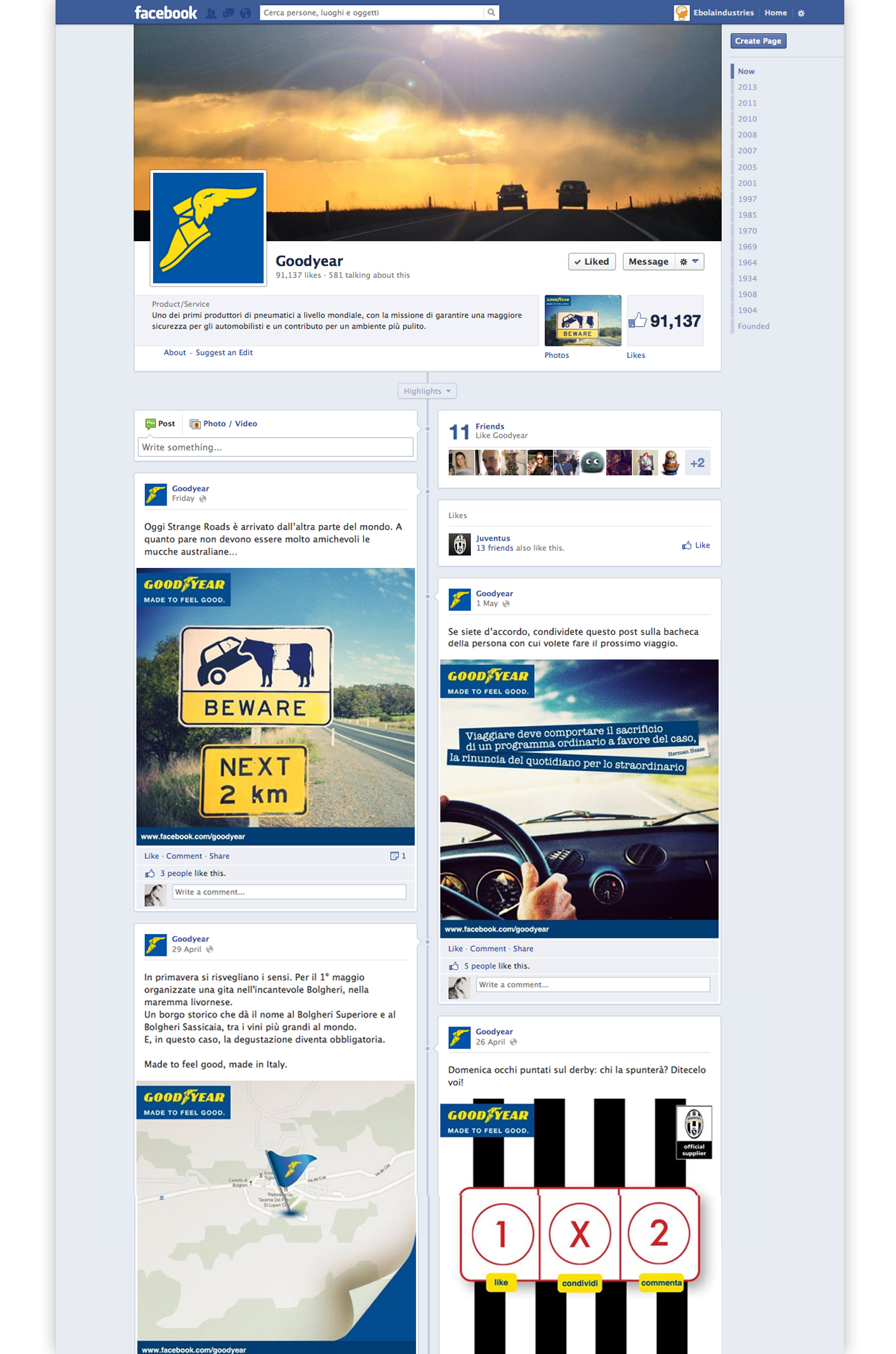 Goodyear Italia - FB fan page.
