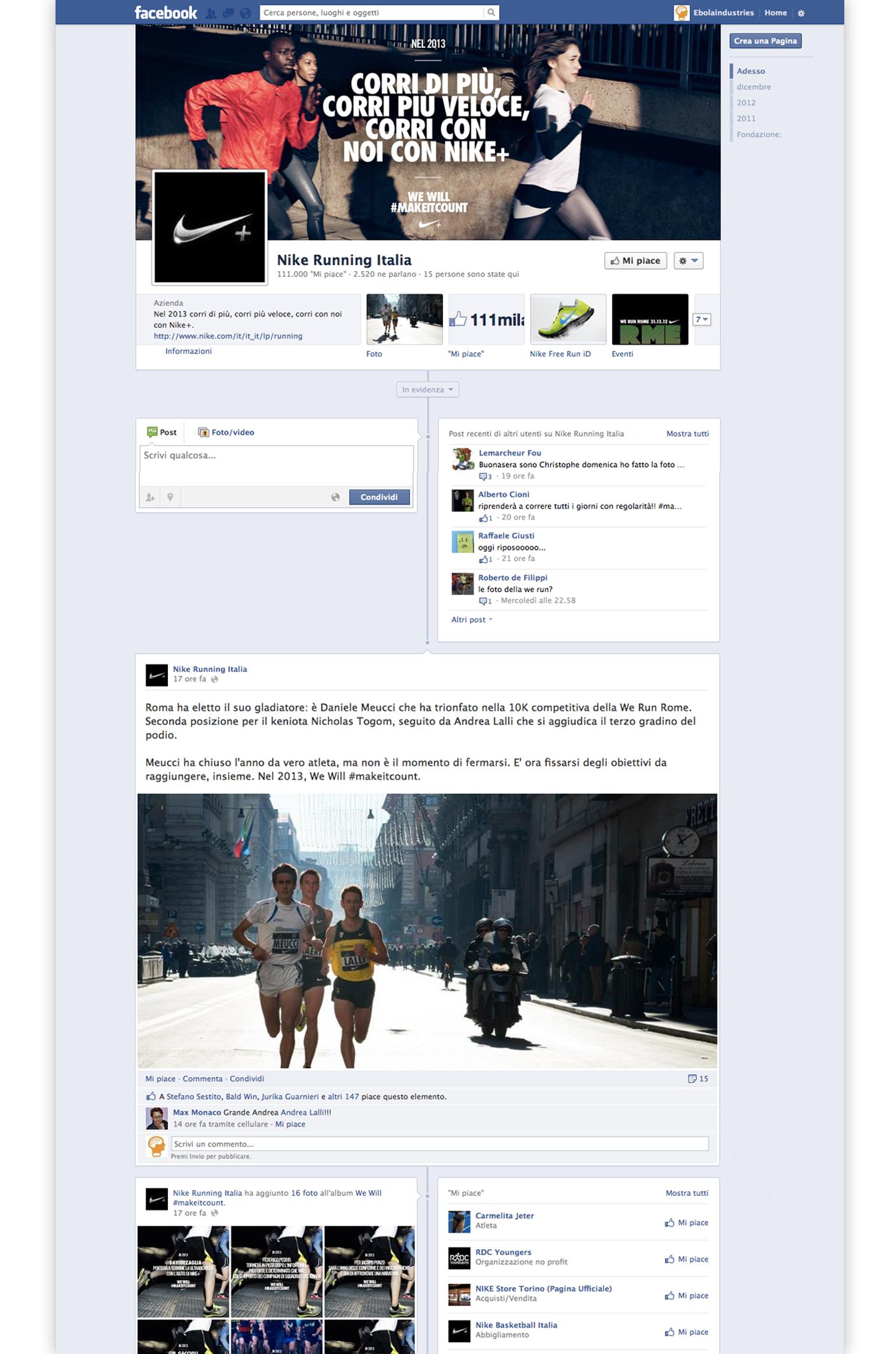 Nike Running - FB fan page.