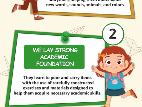 4 ways Abacus Montessori Academy can boost Toddler's brain development.