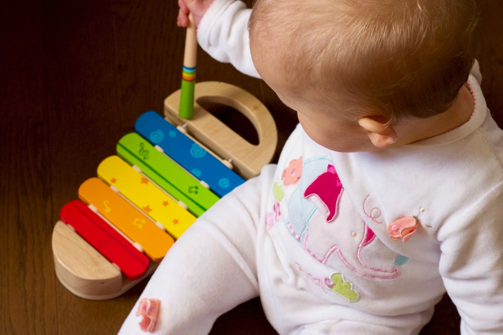 Music helps in sensory development.
