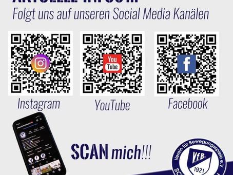 Die Social Media Kanäle des V.f.B. Schrecksbach
