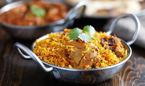 indische Karahi mit Chicken Curry
