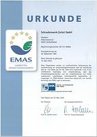 Zertifikat EMAS Schrauenwerk