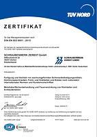 Zertifikat ISO9001 Schraubenwerk