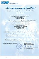 Zertifikat DASt021 Schraubenwerk