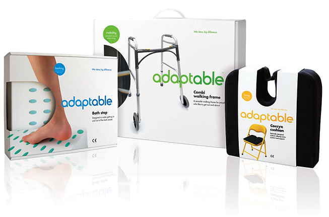 Adaptable mobility aids range structural packaging design