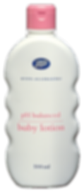 Boots Baby lotion range structural packaging design by a.m. associates