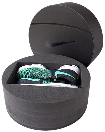 Nike shoebox structural packaging design
