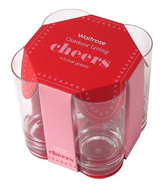 Waitrose picnic glasses structural packaging design