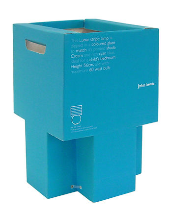 John Lewis homewares structural packaging design