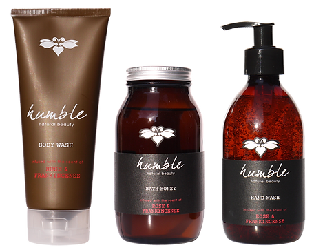 Humble toiletries range packaging design