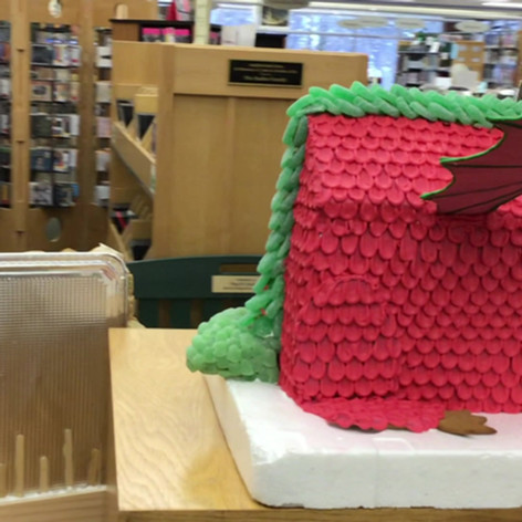 """FIRST PLACE: """"Jasper the Dragon's Christmas House"""""""