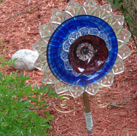 A piece of art that was found on a previous garden tour!