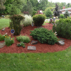 A lovely section of landscaping featuring many little suprises