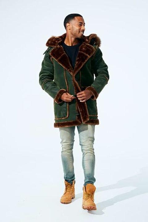 Denali shearling Jacket ( Army green )