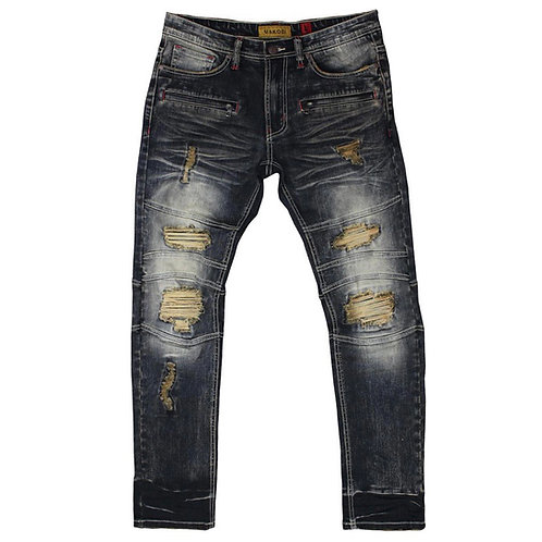 Makobi - Resi Shredded Coated Jeans