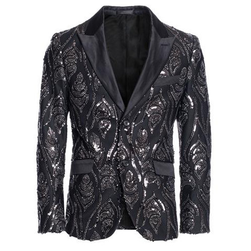 BLACK/SILVER NEW BLAZER