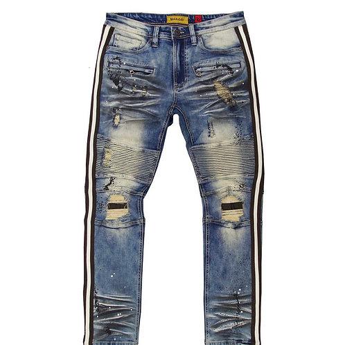 Makobi - Shredded Jeans w/ Tape & Paint