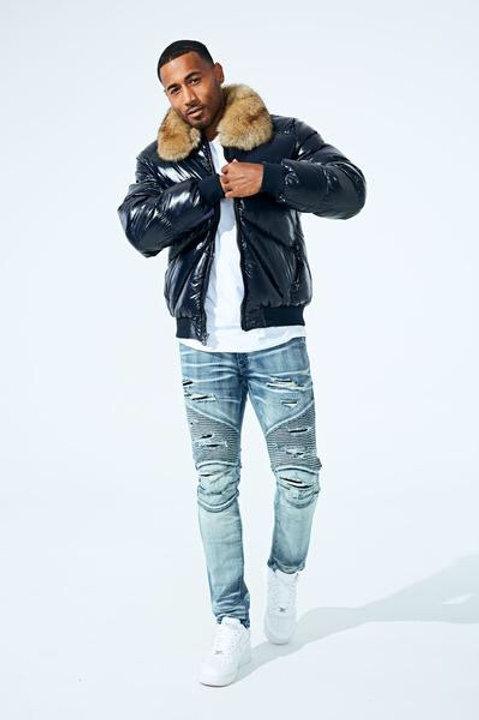 Lenox nylon puffer Jacket  ( Blue )