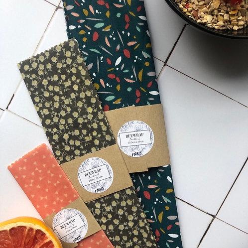 Beewrap Taille L (35,5 cm x 33 cm) - Emballage alimentaire réutilisable