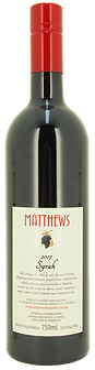 2017 Syrah (aka Shiraz) Matthews Fruit Wines
