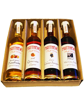 4x100ml Gourmet Tasting Flight #3 Matthews Fruit Wines