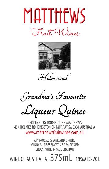 Grandma's LIQUEUR QUINCE 375mL