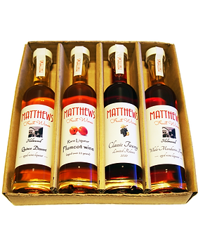 4x100ml Gourmet Tasting Flight #2 Matthews Fruit Wines