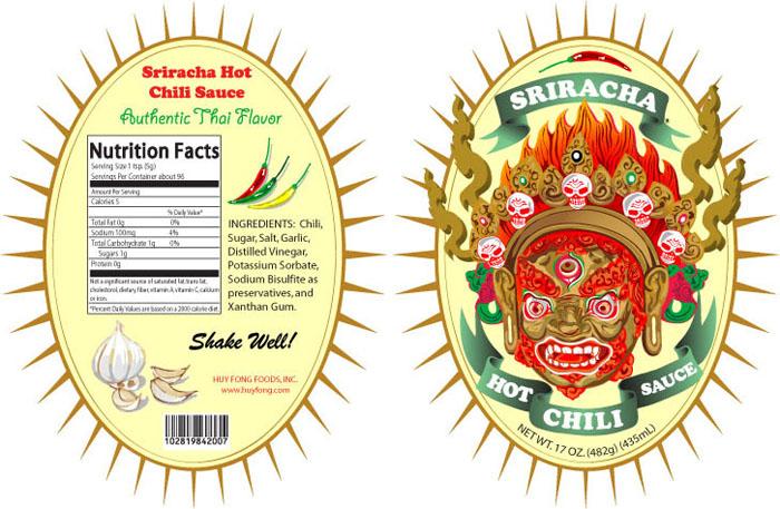 Sriracha Label