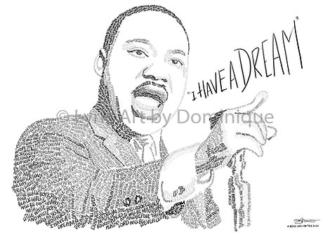 MLK - CHARITY PRINT (all profits to charity)