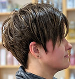 ladies short hair cut, pixie cut, highlights