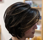 Ladies Bob, short hair, highlights, hair colour, ladies short hair cut, ladies blow dry