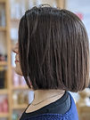 brazilian blow dry, ladies bob, blunt haircut