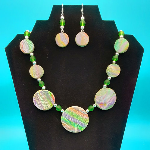 Textured Round Beads/Earrings