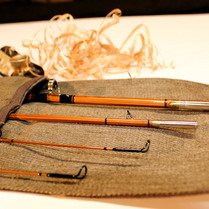 Three Piece, Two Tip Bamboo Fly Rod in a Rod Sock