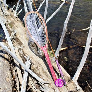 Purple Heart Landing Net with Abel Reel