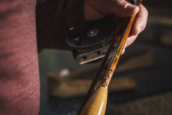 Rattan Grip on Bamboo Fly Rod