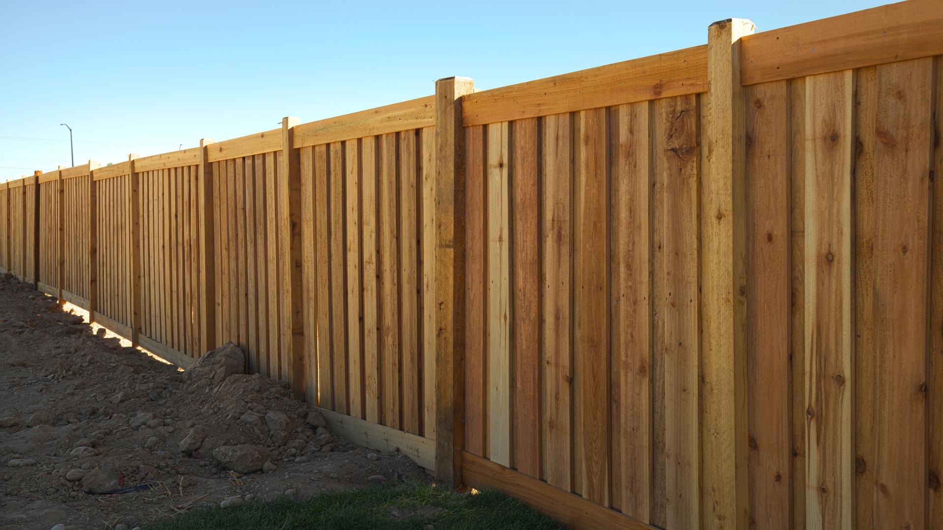 Cedar Board on Board Picture Frame Fence