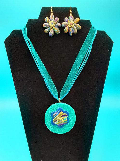 Medallion with Starburst Earrings