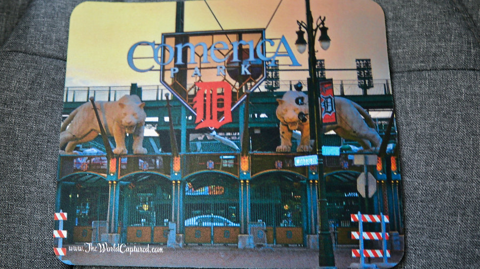 Old Comerica Entrance - Mouse Pad