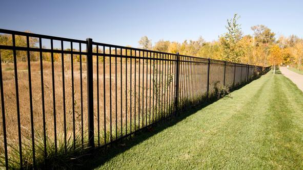 Wrought Iron, 3 rail flat top fence.jpg