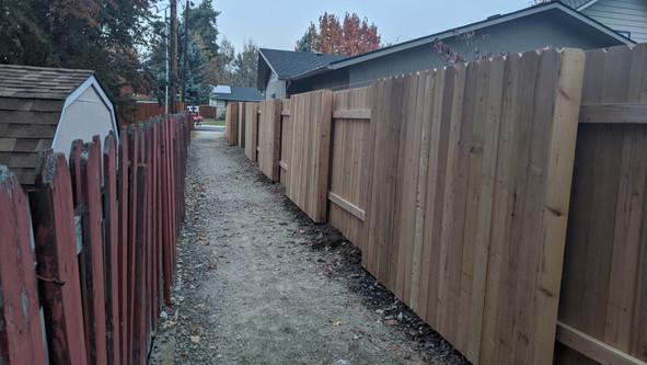 Cedar Good Neighbor style installation 2