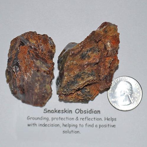 Obsidian - Snakeskin Rough
