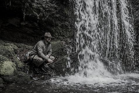 Paul Dufour waterfall fishing
