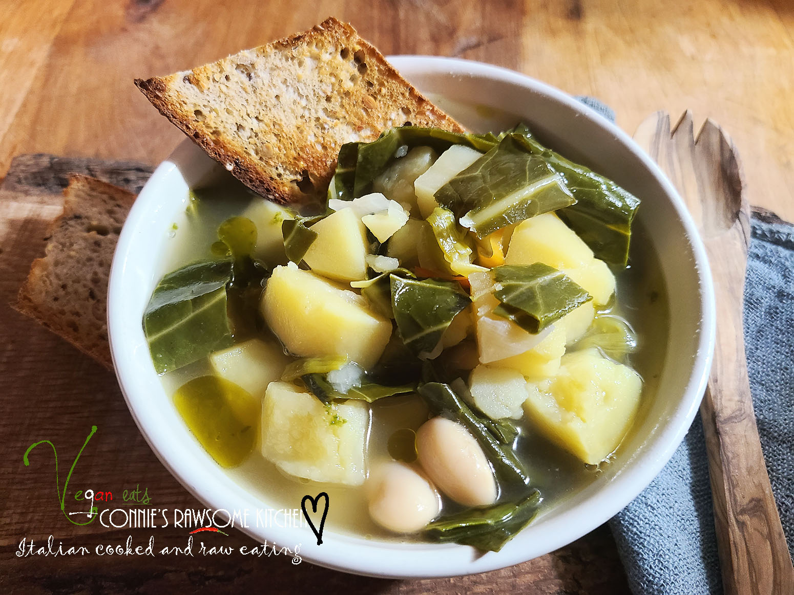 HEARTY BEAN POTATO AND COLLARD GREEN SOUP