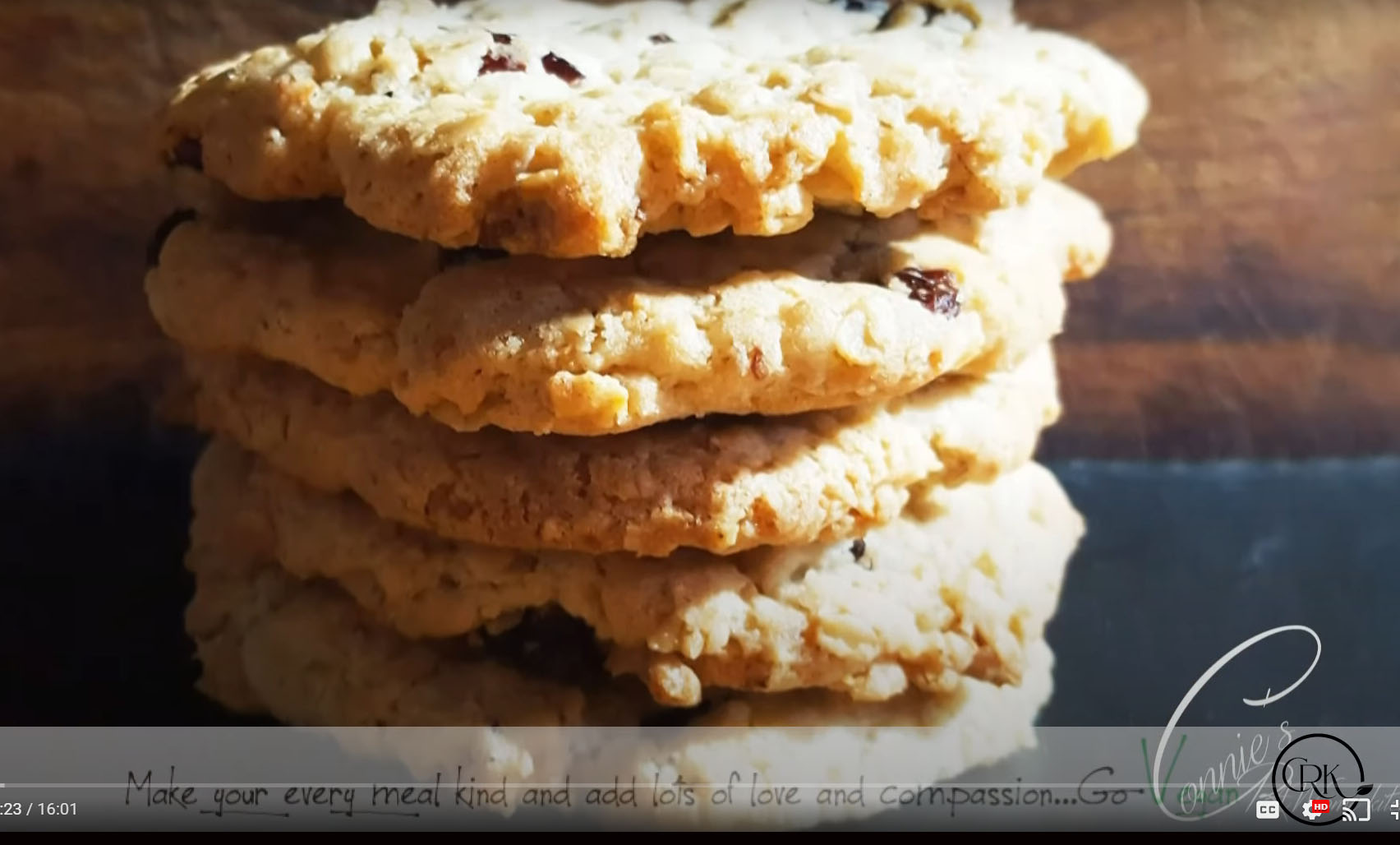 Connies' Best Vegan Rasin and Oatmeal cookie recipe