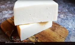 Fontina type vegan cheese