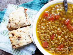 Connie's Rawsome Kitchen - ROSEMARY SCONES AND LENTIL SOUP