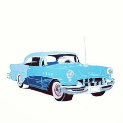 Blue two tone 50s Buick #hotrodhayride !