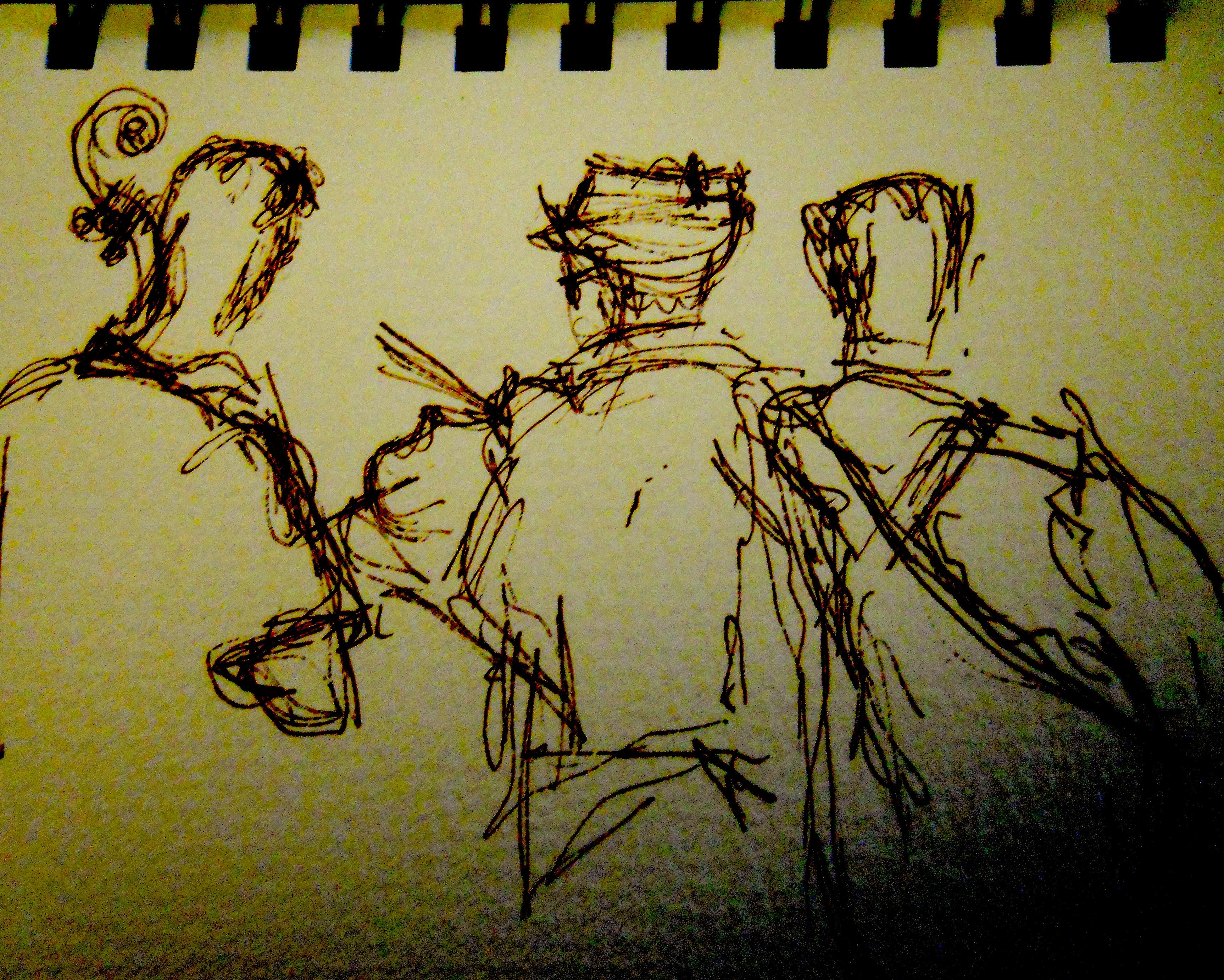 Dan, Jon, Jamie, Hotrod Hayride (detail)